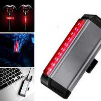 WILD MAN Bike Taillight 300h Long Life 4 Modes Waterproof Wide Angle Night Light USB Charging