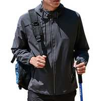 Mens Hooded Waterproof Windproof Outdoor Hiking Sport Jacket
