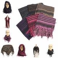 Light Weight Tactical Desert Arab Shemagh Keffiyeh Palestine Scarf Shawl for Women Men