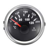 40-120 ºC Marine Water Temperature Gauge Boat Temp Meter Steel White Black