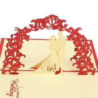 3D Handmade Wedding Valentines Silhouette Invitation Greeting Card