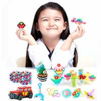 4500Pcs/Set 24 Colors Water Mist Magic Beads DIY Toys For Children Animal Molds Hand Making Puzzle Kids Educational Jewelry