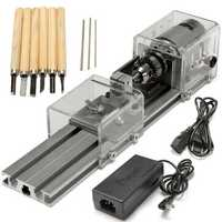 Raitool® LB-01 Mini Lathe Beads Machine Wood Working DIY Lathe Polishing Drill Rotary Tool DC 24V