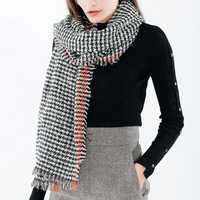 190*70CM Women Winter Warm Acrylic Plaid Scarf