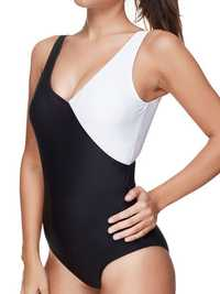 Patchwork Plunge Stretchy One Piece
