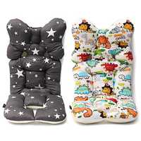 Baby Kids Soft Car Seat Stroller Cushion Pad Liner Mat Head Body Support Pillow