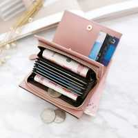 Women Multi Card Slots Short Wallet Card Holder Coin Purse