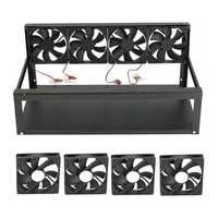 6 GPU Mining Rig Aluminum Case with 4 Fans Open Air Frame for ETH ZEC/Bitcoin