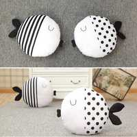 Cute Dot Stripe Kiss Fish Throw Pillow Cotton Cloth Sofa Car Bedding Cushion Home Decoration