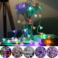 10M 100LED Blossom Flower Fairy String Light Waterproof Wedding Party Christmas Holiday Decor AC220V