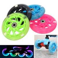 120mm LED Flash Light Up Wheels For Scooter Inline Skates 2 ABED-7 Bearing