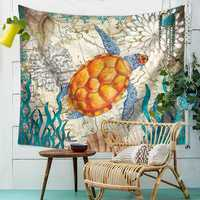 Sea Turtle Hanging Wall Tapestry Home Decorative Tapete Bedroom Blanket Table Cloth Yoga Mat