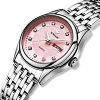 WWOOR 8824 Diamonds Casual Style Calendar Ladies Wrist Watch