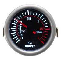 Universal 2 Inch 52mm Car Auto LED Digital Smoke Len Boost Bar Gauge Meter 12V