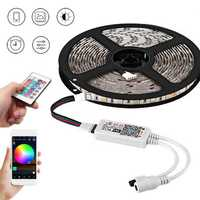 5M SMD5050 Smart WiFi RGB 300LEDs Strip Light EU Plug Work with Amazon Echo Alexa Google Home