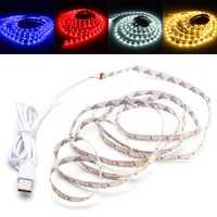 2M SMD2835 USB LED Strip Light TV PC Background Backlight for Decoration DC5V