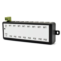8 Channel CCTV POE Synthesizer Combiner POE Power Supply Module for Surveillance IP Cameras