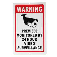 18x28cm Home CCTV Surveillance Security Camera Video Sticker Warning Decal Sign