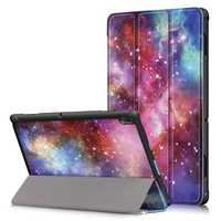 Tri-Fold Printing Tablet Case Cover for Lenovo Tab E10 Tablet - Milky Way galaxy