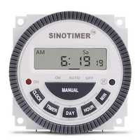 110V 220V TM619 4PINS 16AMP Digital Timer 7 Days Programmable Time Switch Relay