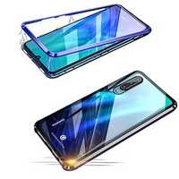 BAKEEY Magnetic Adsorption Metal Bumper Tempered Glass Protective Case for HUAWEI P30