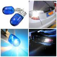 Blue W21 5W T20 580 7443 Xenon White Halogen DRL Side Light Light Hid Bulb