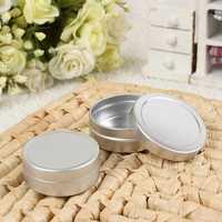 2pcs Empty Cosmetic Pot Jar Tin Aluminium Container Storage 10ml+20ml