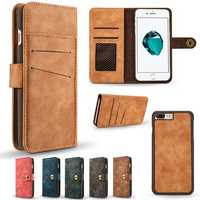 Caseme Magnetic Detachable Wallet Flip Case For iPhone 7 Plus