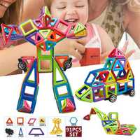 91 PCS Magnetic Toys Building Blocks Educational Toys Fancy Puzzle