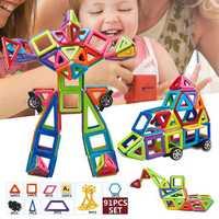 91 PCS Magnetic Toys Building Blocks Educational Toys Fancy Puzzle