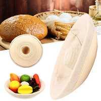 Handmade Round Oval Banneton Bortform Rattan Storage Baskets Bread Dough Proofing Liner