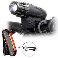 BIKIGHT Waterproof USB Rechargeable Bike Front Light Taillight Set