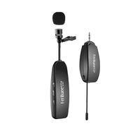 Rechargeable Wireless Lavalier Lapel Microphone for Notebooks Cameras Speakers for Teaching Speech Meeting