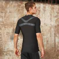 Mens Breathable Quick-drying Sports Tops