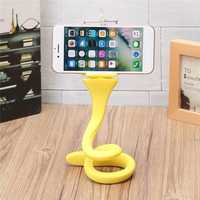 Flexible Silicone Soft Phone Holder Desktop Bike Sport Camera Mount Stand for iPhone Samsung Xiaomi