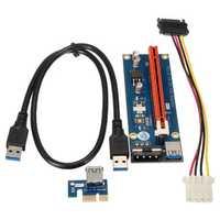 0.6m USB 3.0 PCI-E Express 1x to 16x Extender Riser Board Card Adapter Mining Bitcoin