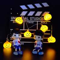 LUSTREON 2M 3M Battery Powered Halloween Pumpkin DIY LED String Light Home Party Holiday Decoration