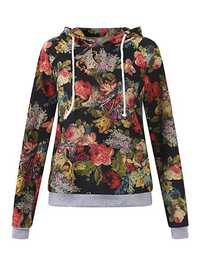 Casual Women Printing Pullovers Long Sleeve Hoodies
