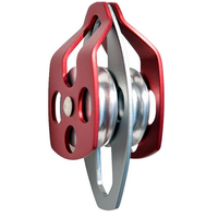 Outdoor Climbing Aluminium Magnesium Alloy Double Pulley Downhill Equipmet