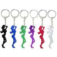 Beauty And Sexy Woman Girl Beer Bottle Opener Metal Keychains Key Ring Creative Gift