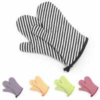 KCASA KC-PG04 1Pcs Cotton Oven Mitts Kitchen BBQ Microwave Oven Heat Resistant Pot Holder Gloves