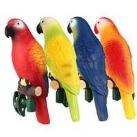 4Pcs Solar Powered Outdoor Garden Ornament Path Novelty Bird Parrot LED Night Light