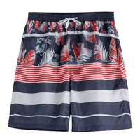 Pattern Printing Drawsting Loose Leisure Beach Board Shorts