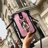 Women PU Animal Print Crossbody Bag Shoulder Bag Phone Bag