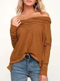 Women Casual Solid Color Long Sleeve knitted Tops
