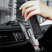 Baseus Metal Connecting Rod Gravity Linkage Auto Lock Car Mount Dashboard Holder for Mobile Phone