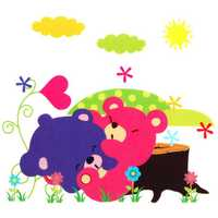 Baby Kids Room Cute Cartoon Jungle Animals DIY Removable Wall Sticker Decal Kid Nursery Home Art Decoration
