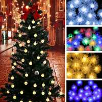 30 LED Solar Power Christmas Fairy String Lights Party Outdoor Patio Decor Lamp Creative Light