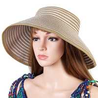 Women Summer Outdoor Foldable Sun Straw Hat