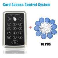 10 Rfid Tag+RFID Proximity Card Access Control System RFID/EM Keypad Card Access Control Door Opener